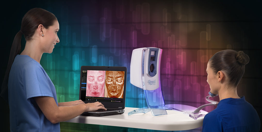 The Reveal Imager is a high tech facial imaging system.