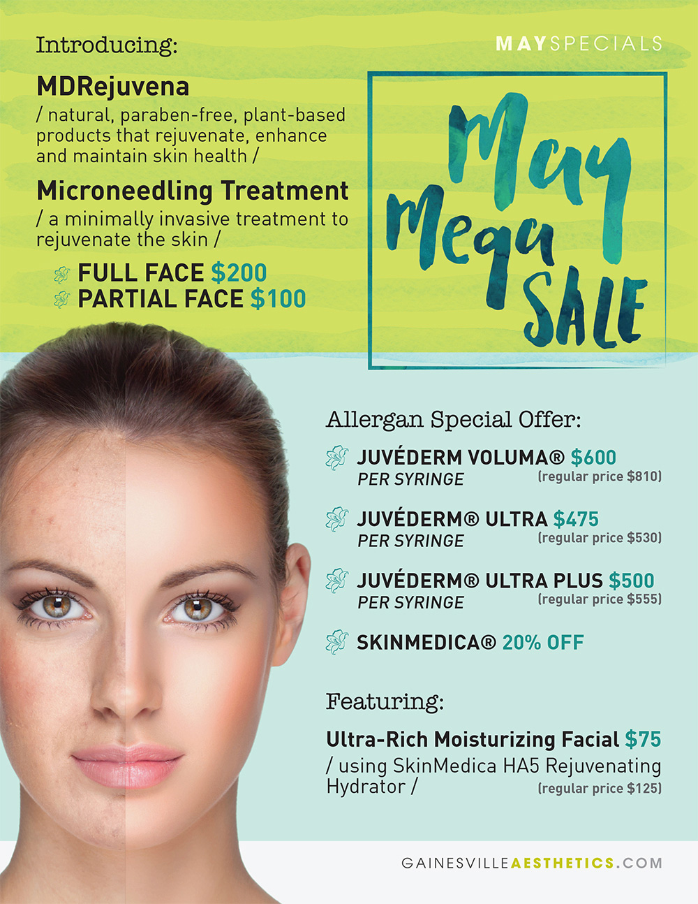 Accent Aesthetics in Gainesville FL Med Spa May 2016 Specials
