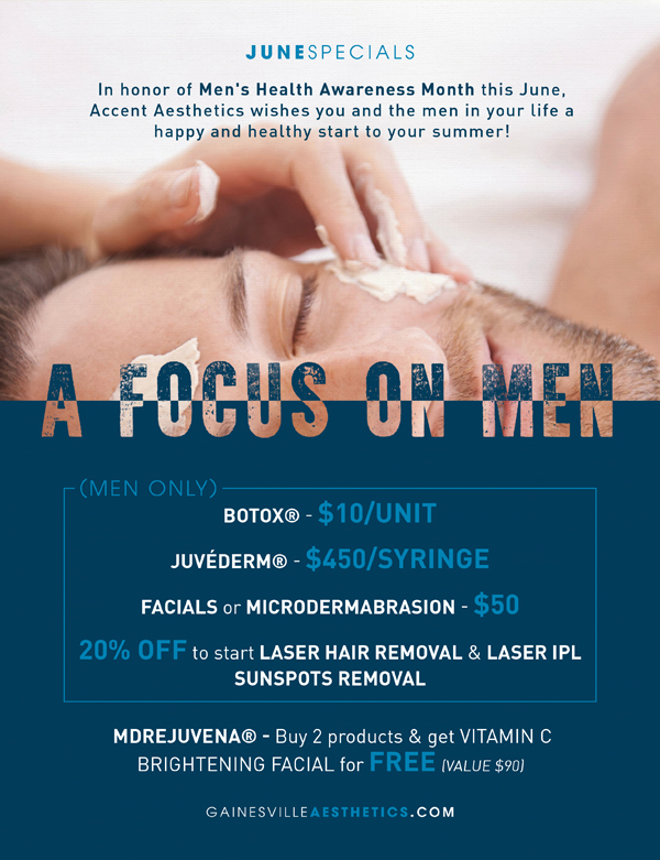 A Focus on Men - 2016 June Specials