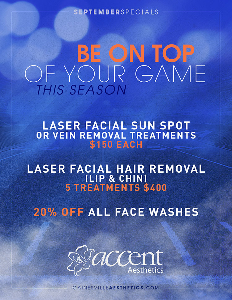 Accent Aesthetics MedSpa in Gainesville, FL - 2016 September Specials