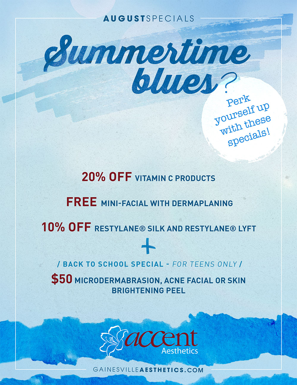 Summertime Beauty Specials in Gainesville Florida