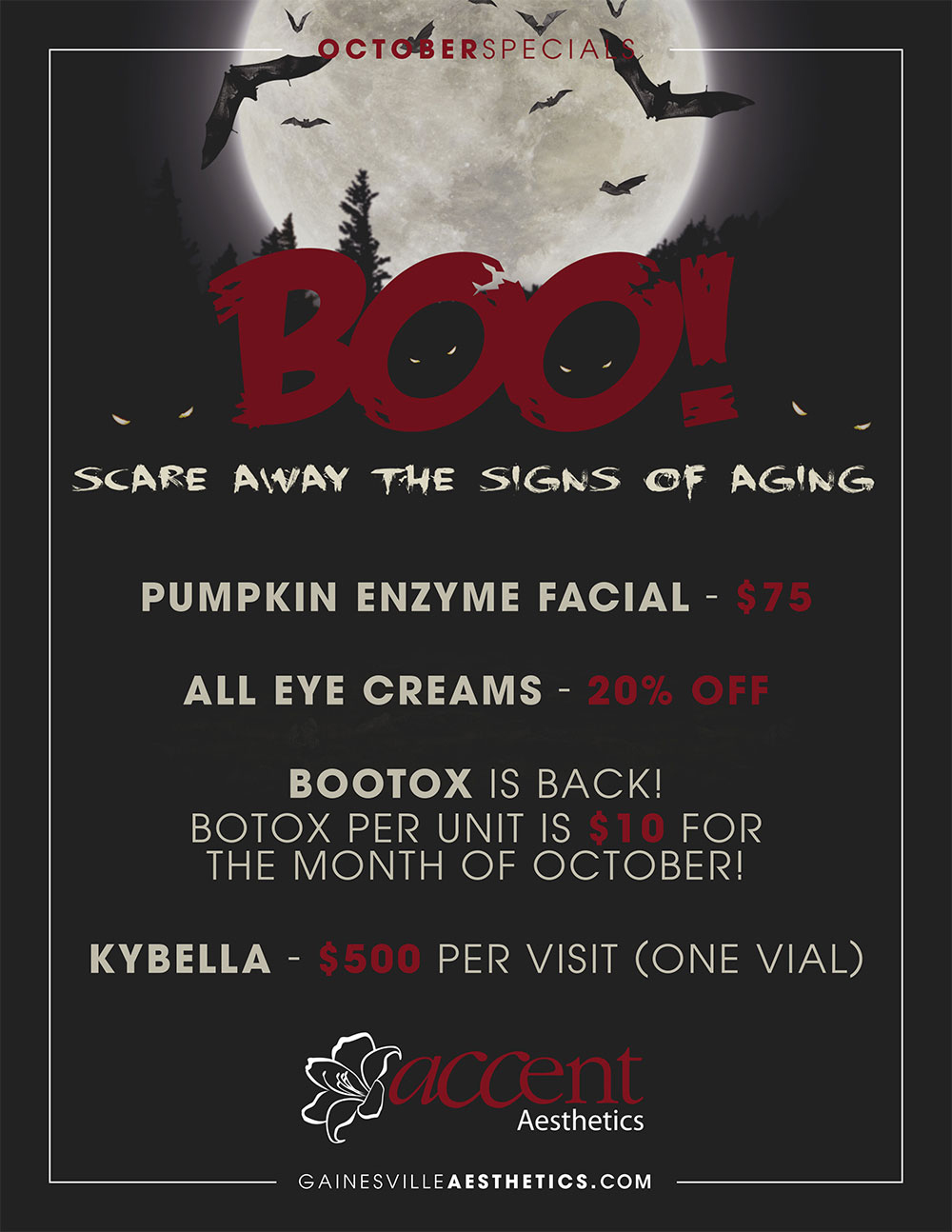 October 2016 MedSpa Specials in Gainesville, FL