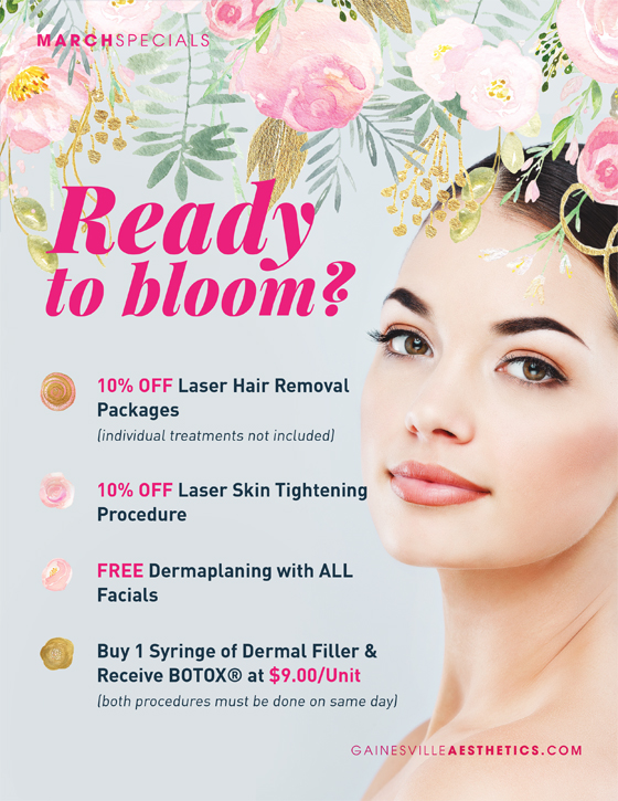 March Specials MedSpa Gainesville Florida